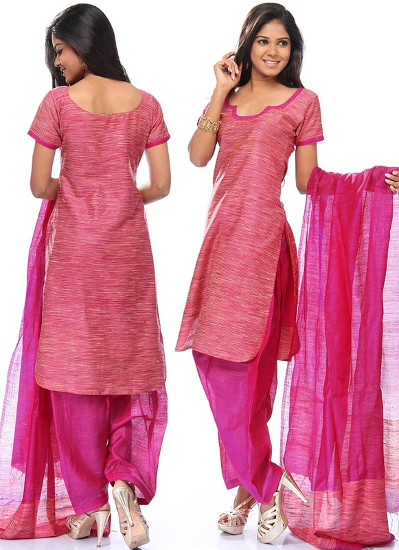 Silk and Tussar Silk salwar suit stitching patterns - The Kavic Living