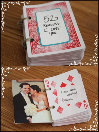 52 Reasons Why I Love You Deck Of Cards Scrapbook Gift